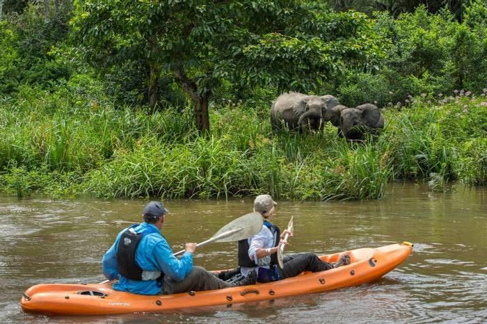 Kayaking at Mboko