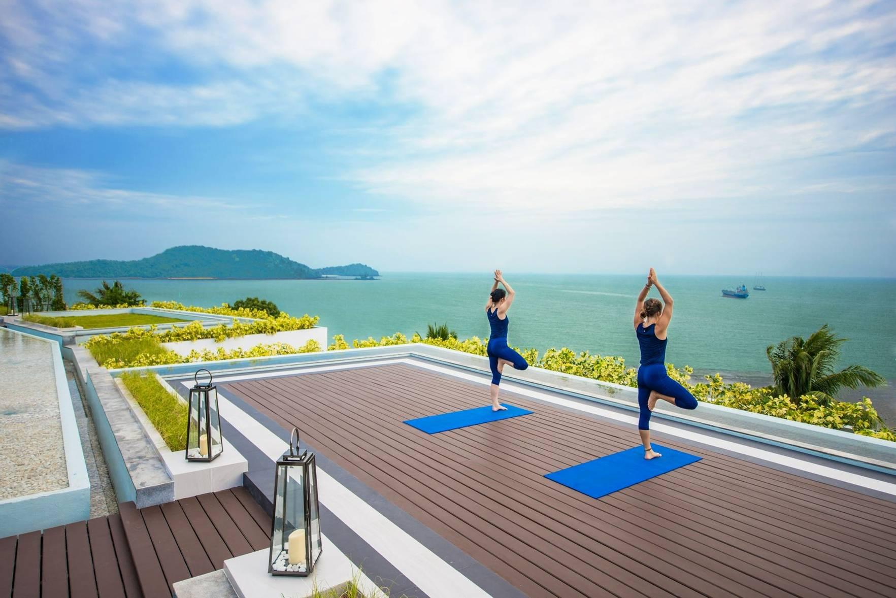 Yoga with Sea View at Amatara Wellness Resort