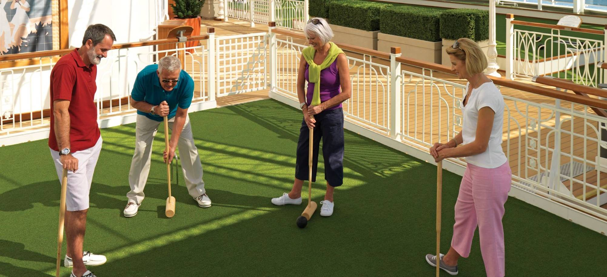 At Sea   Croquet On The Games Deck   Itinerary Desktop