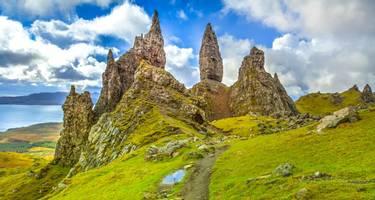 Old Man of Storr pinnacles on the Isle of Skye, Scotland