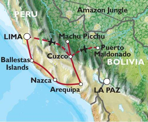 LIMA to LIMA (19 days) Incas & Amazon (Inc. Amazon Jungle)
