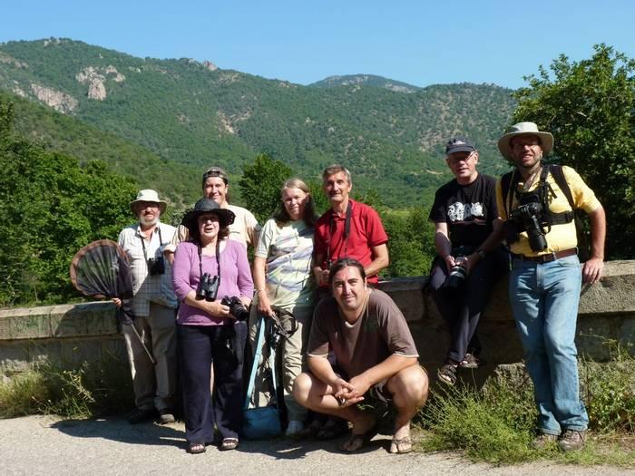 Bularia Dragonflies Naturetrek group at Kresna Gorge