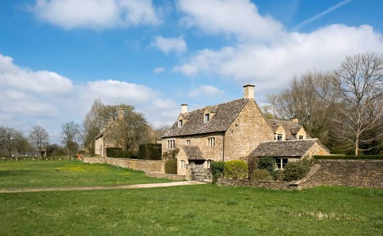 Picturesque Wyck Rissington Village in the Cotswolds