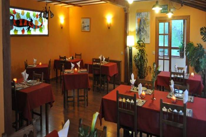 Dining area of our hotel in the northern Picos de Europa