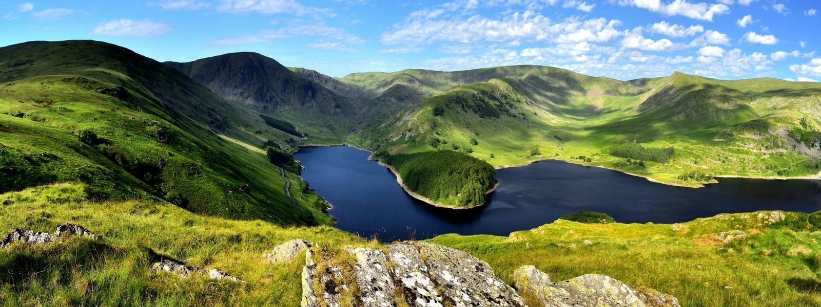Sunlight over Mardale Head Haweswater