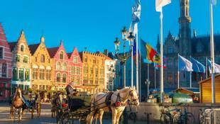 Shutterstock 243626431 Grote Markt Square Of Brugge