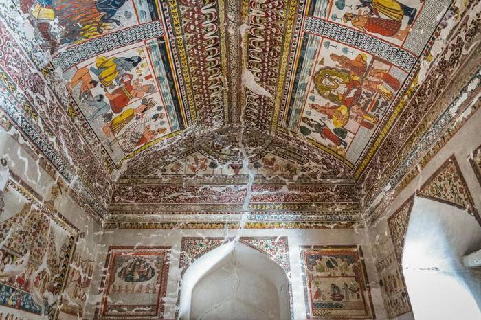Paintings Inside Orccha Fort And Palace, India Shutterstock 1184962828