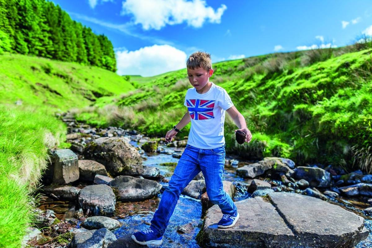 Boy in the national park of Brecon Beacons, Wales