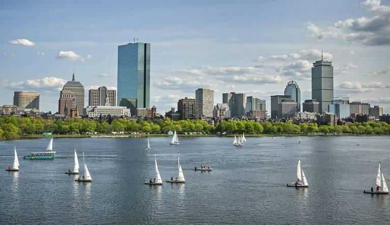 Photos Boston Ma Skyline Boats From Longfellow Bridge (1)