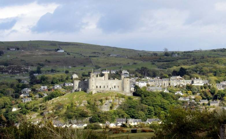 Dolgellau - Vivian Bath - Harlech Castle.JPG