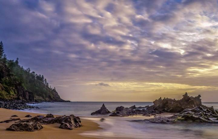 Clouds, rocks and sky at Anson Bay