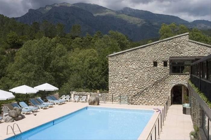 Our hotel in Venaco, Corsica