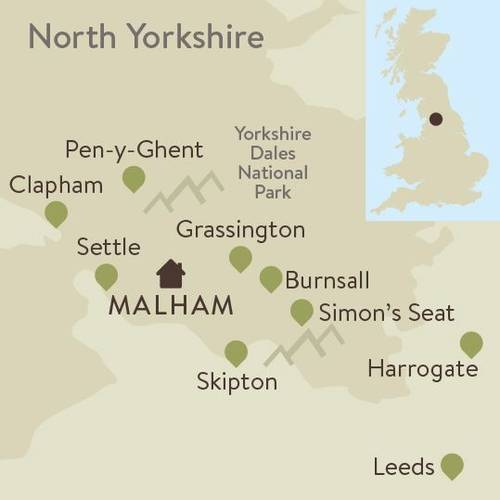 Southern Yorkshire Dales Family Walking Itinerary Map