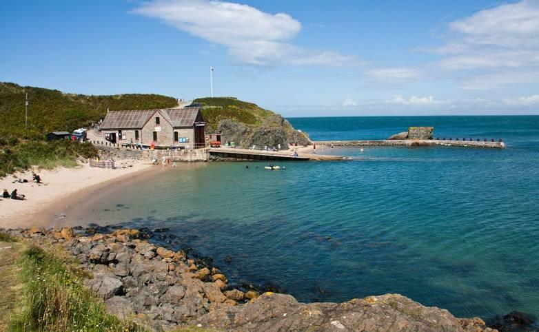The coast around Porth Dinllaen Llyn Peninsula North Wales UK