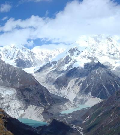View from Karchung La at 5,240m