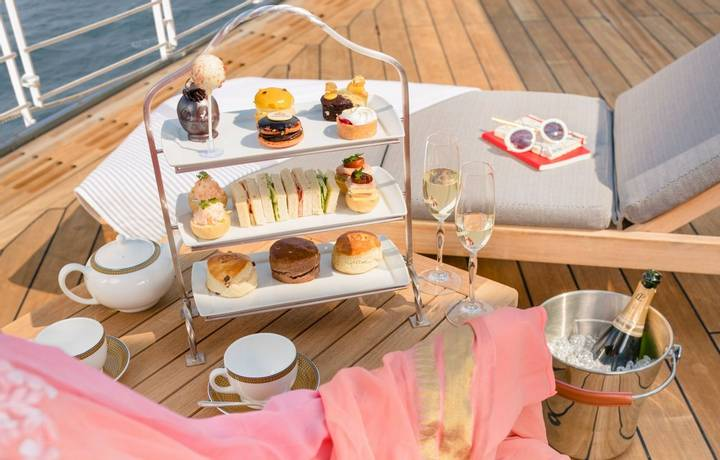 Cunard Grills photoshoot with Alpha Century IMAGE RETOUCHED 27TH JUNE 2018. Picture date: Friday June 1, 2018. Photograph by…