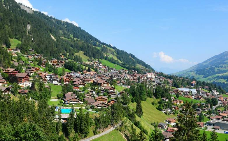 Swiss Alps: Adelboden village in the Bernese Oberland