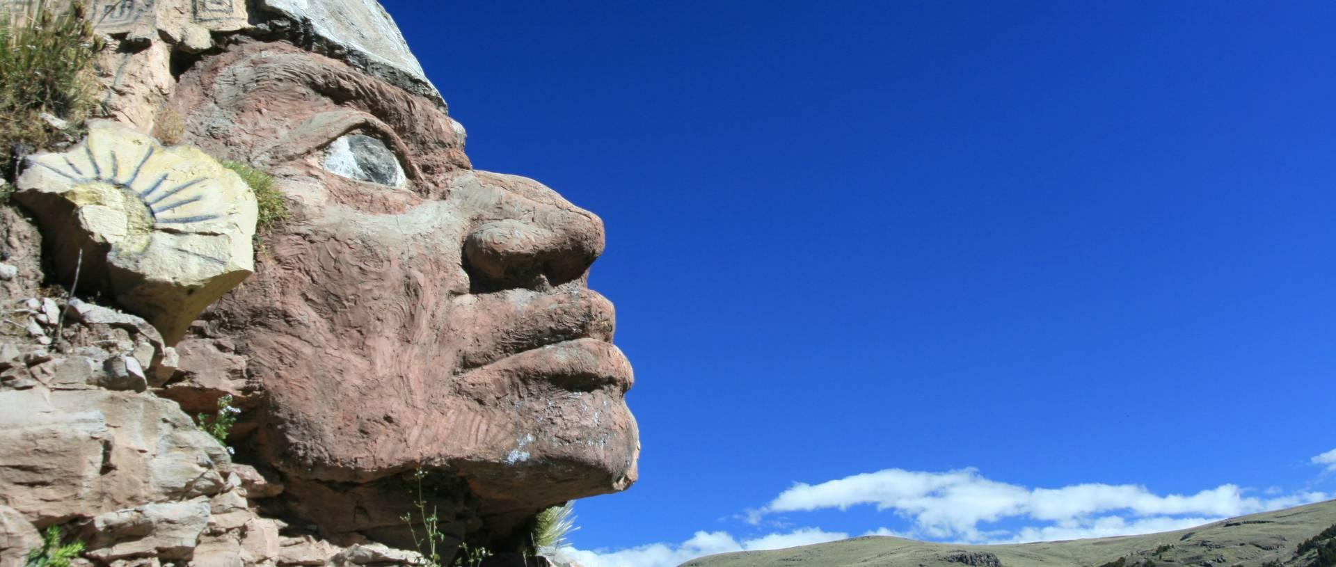 Stone Inca Head, Chucuito, Puno