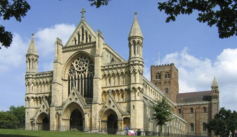 St. Albans Cathedral north of London.