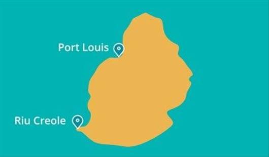 Riu Creole Mauritius Map
