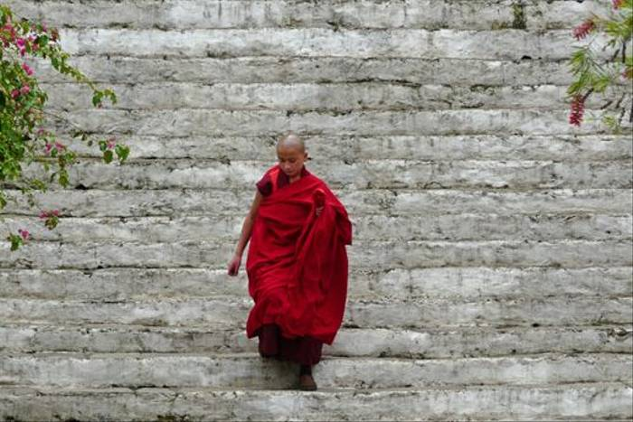 Buddhist monk in Bhutan (Rajan Jolly)