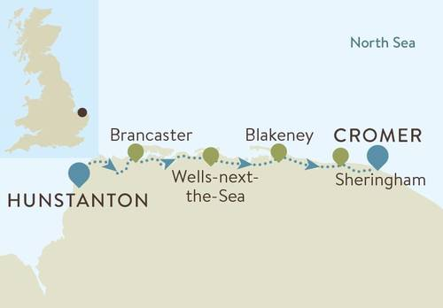 Norfolk Coast Path Map