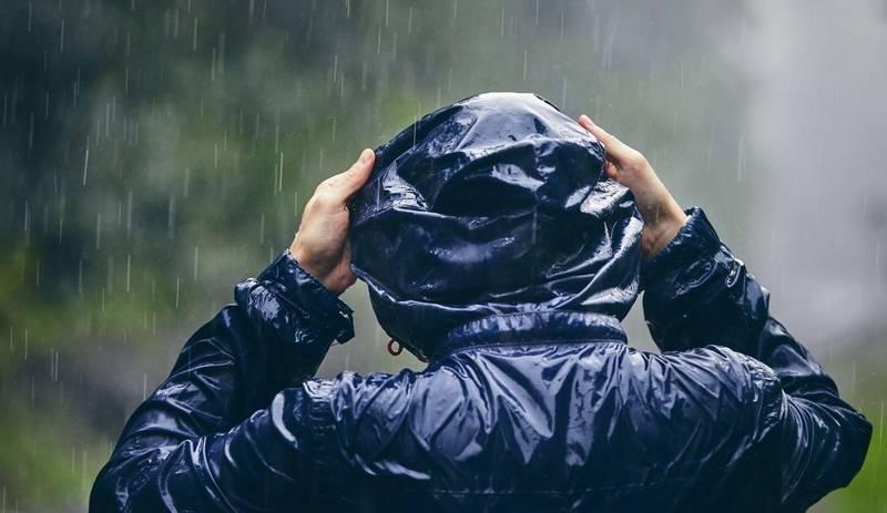 Waterproof jacket in rain