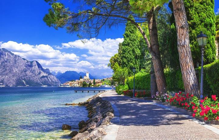 Scenery of Northen Italy. Malcesine on Lago di Garda