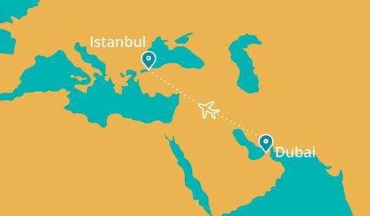 Dubai Istanbul Map New