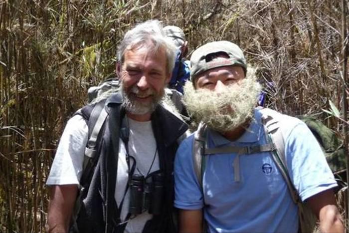 David Tattersfield (left), our botanist leader (Alison Evans)