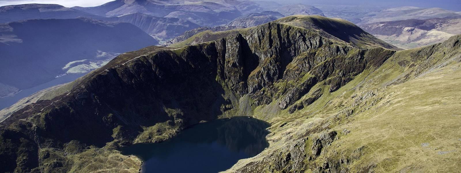 Llyn Cau & Cadair Idris Snowdonia Aerial Mid Scenery
