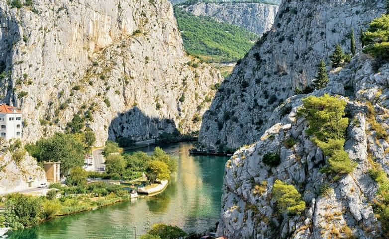 Gorge and Cetina River in Omis