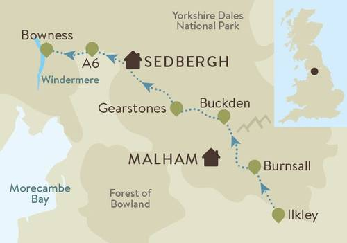 Dales Way Guided Trail Map