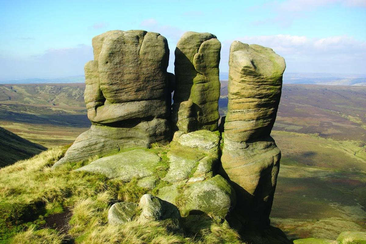 The Boxing Glove Rocks on the northern edge of Kinder Scout