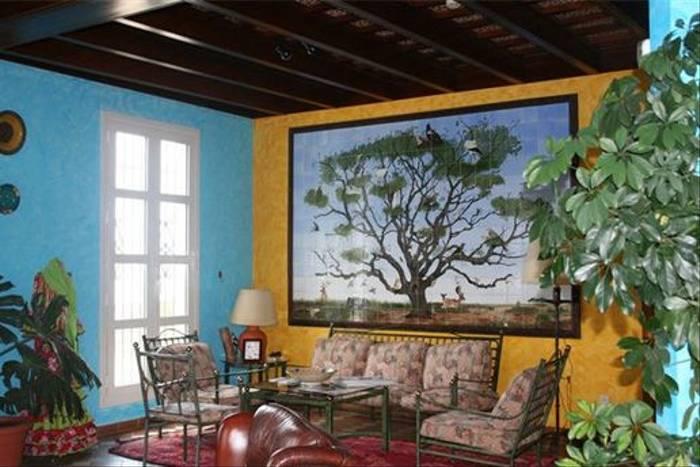 Lounge area of our hotel in El Rocio