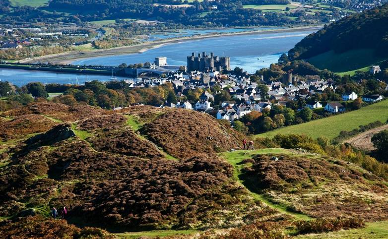 Snowdonia Way - Guided Trail - Views from Conwy Mountain - AdobeStock_46215520