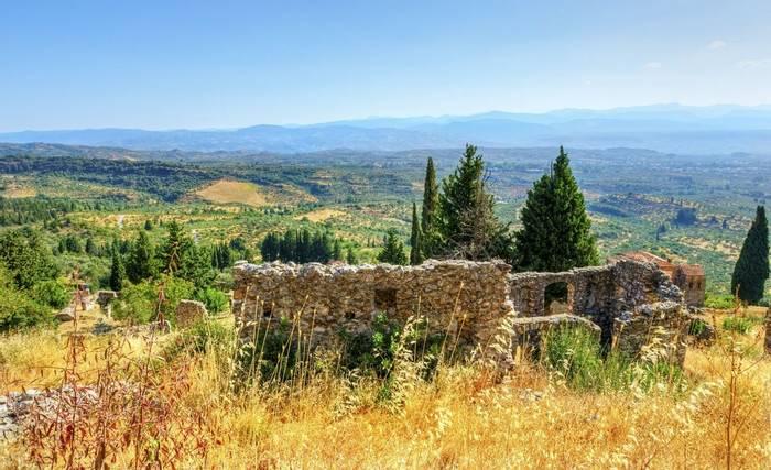 Mystras, a Byzantine castle