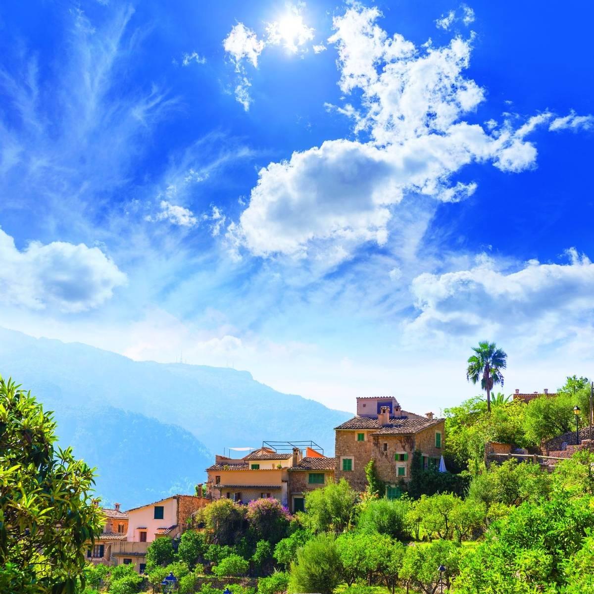 Fornalutx village in Majorca Balearic island