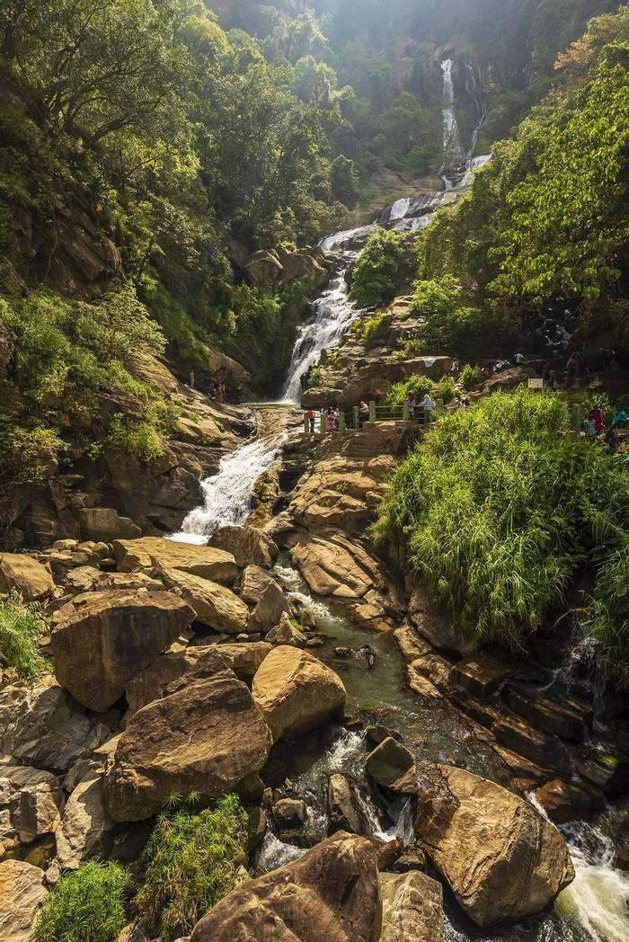 Waterfall In Nuwara Eliya (John Archer Thomson)