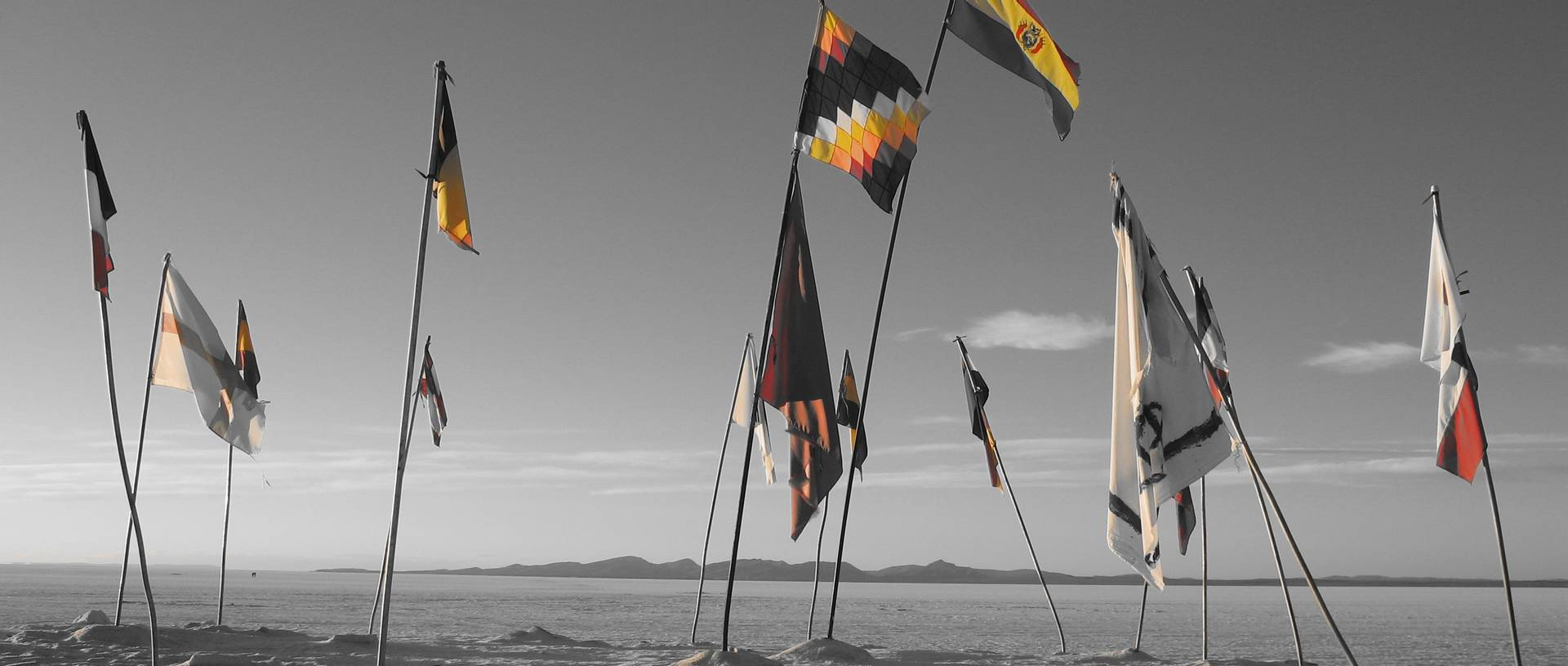 Flags Salt Flats