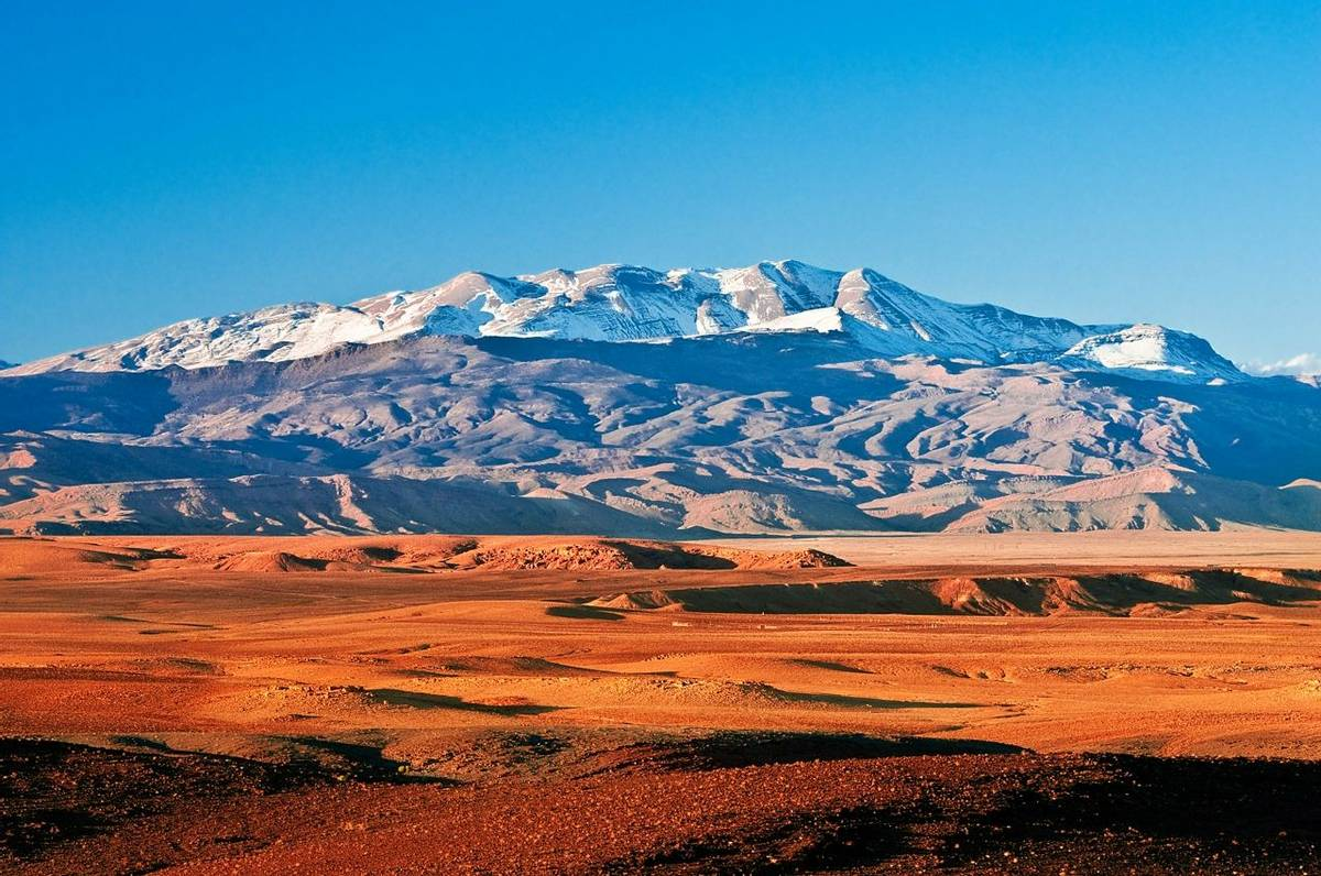 Mountain landscape in the north of Africa, Morocco