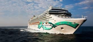 Aerial Norwegian Jade off Cannes - Mediterranean SeaNorwegian Jade - Norwegian Cruise Line
