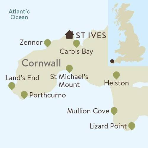 Cornwall Family Walking Itinerary Map