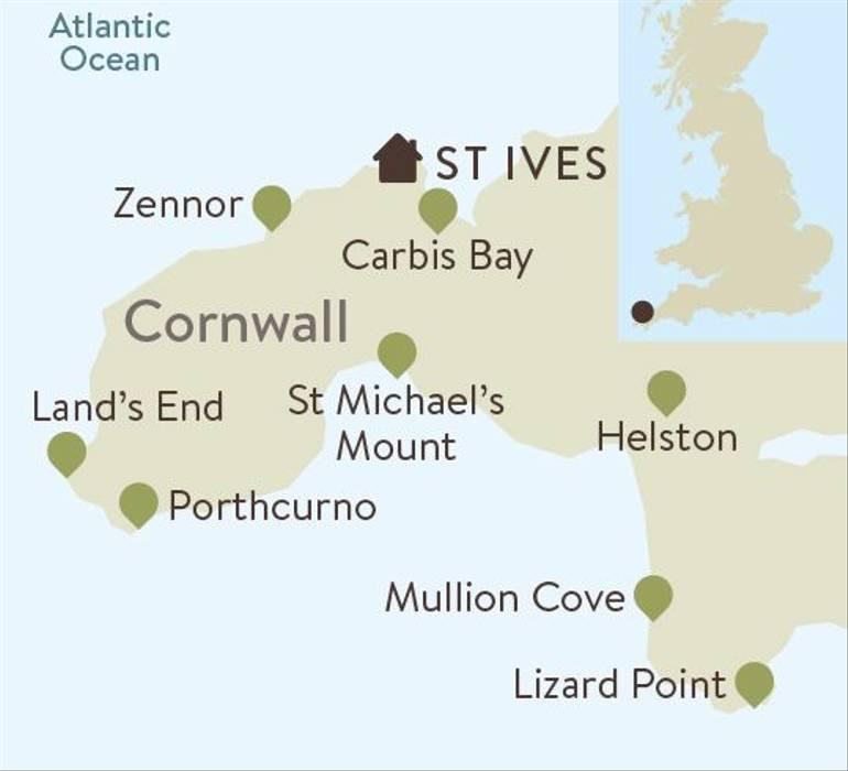 Cornwall Family Walking Itinerary Map