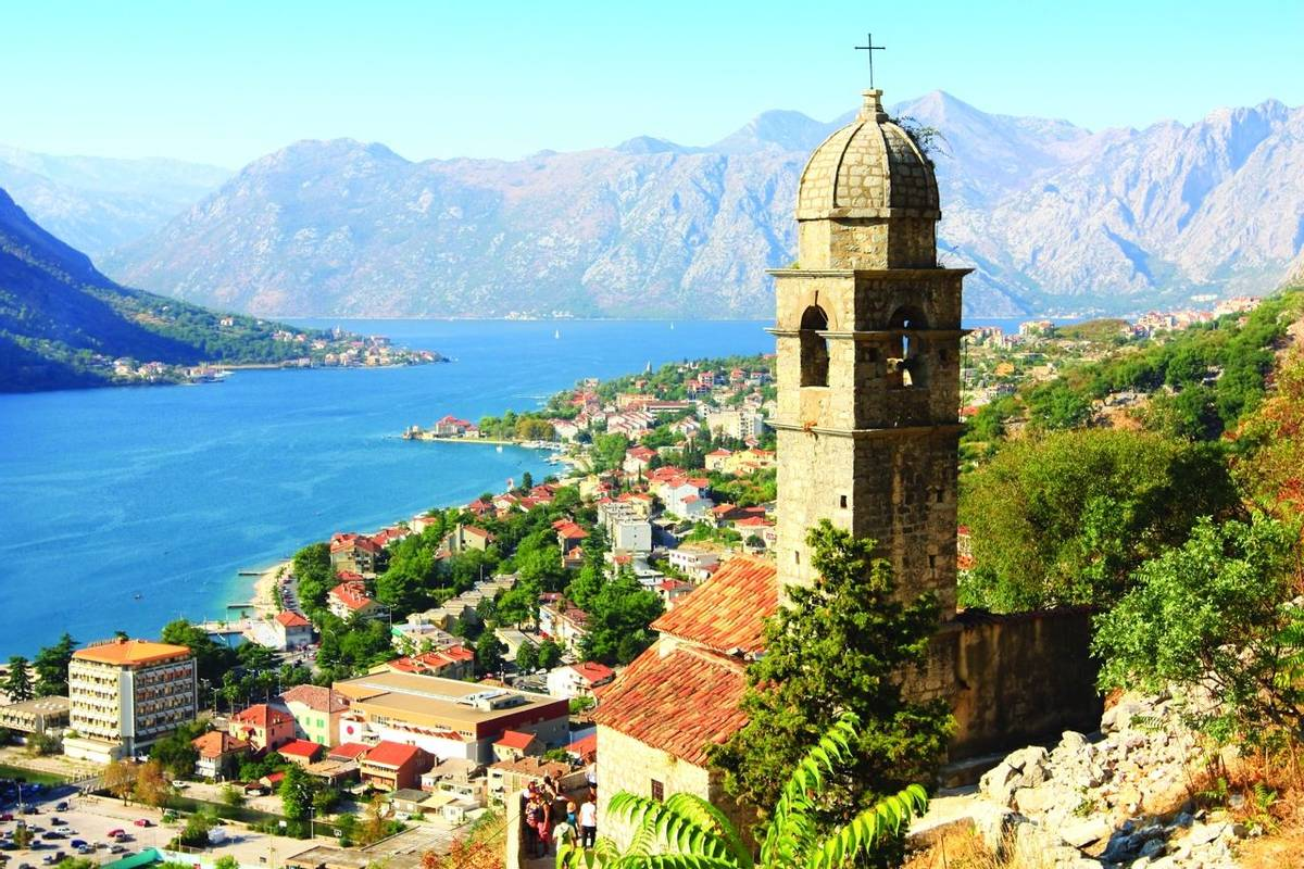 the view over Kotor and its bay and the old fortress