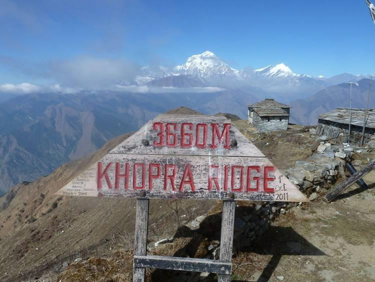 Kopra or Khopra Ridge trek in Nepal