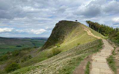 Great ridge pathway after restoration