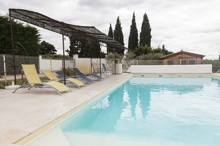 Swimming pool at the Hotel Granges Arles