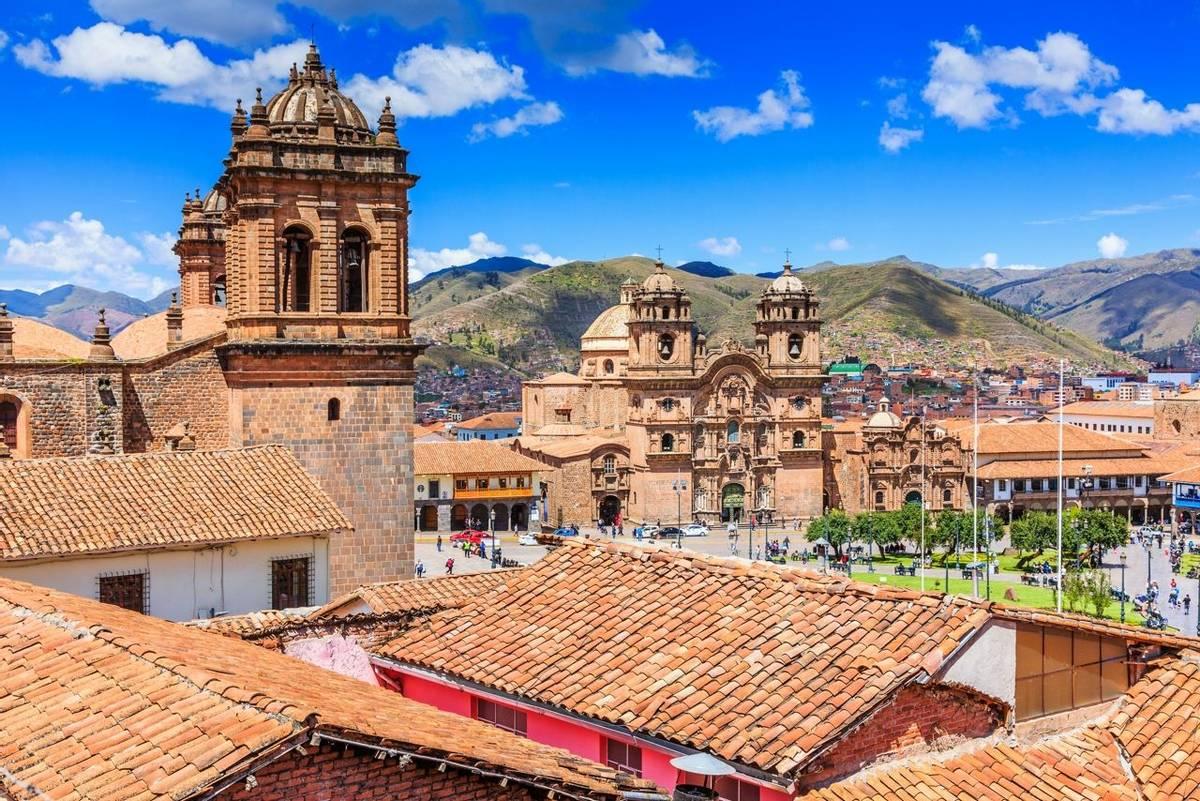 Cusco, Peru the historic capital of the Inca Empire. Plaza de Armas.