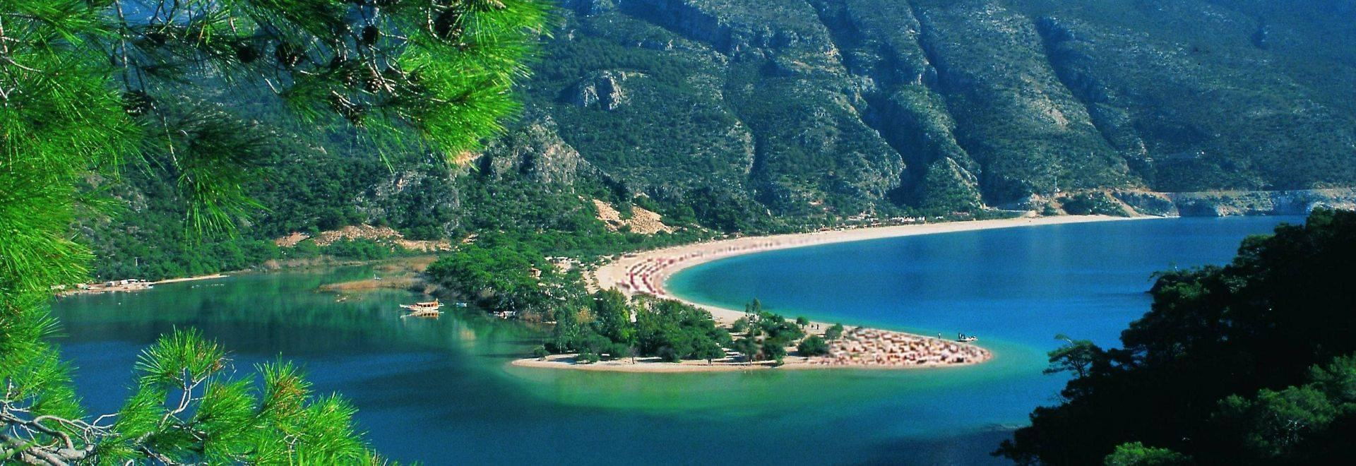 Oludeniz Beach And Lagoon And Paragliders